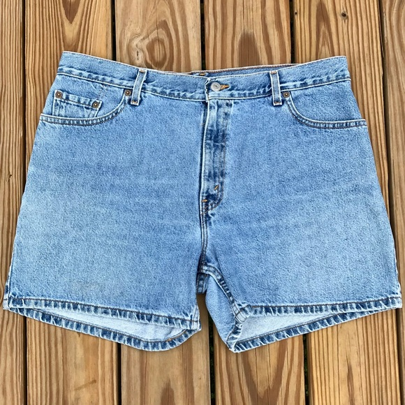 866812886e Levi's Shorts | Levis 555 Guys Fit Denim Blue Jean Vintage | Poshmark